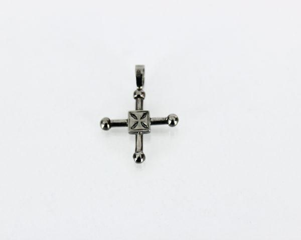 Ciondolo Croce dee San Geminiano in argento